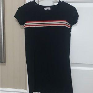 girls black t-shirt dress
